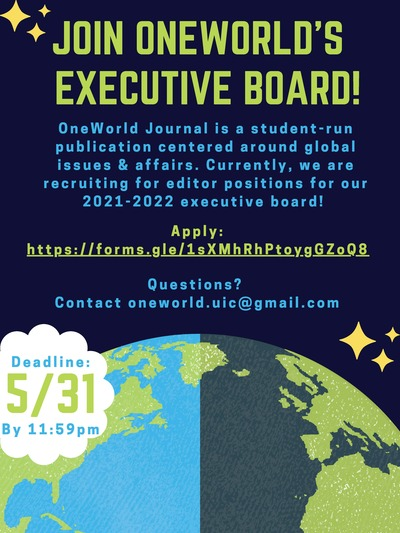 The background colors of this flyer are blue and green. There is a relatively large image of the earth at the bottom of the flyer, also pictured in blue and green. At the top left and bottom right of the flyer, there is an image of gold stars and/or sparkles.