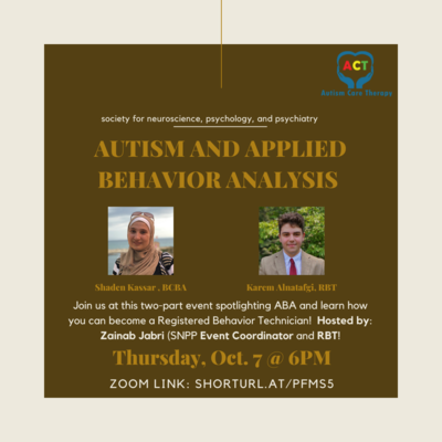 The background color is dark beige and there are two images of a UIC student and the guest speaker for our second event's guest speaker.