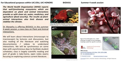 There are photographs of birds, plants, and flowers on the top, right side of the flyer. The logo for the American Society for Microbiology is also included in red.