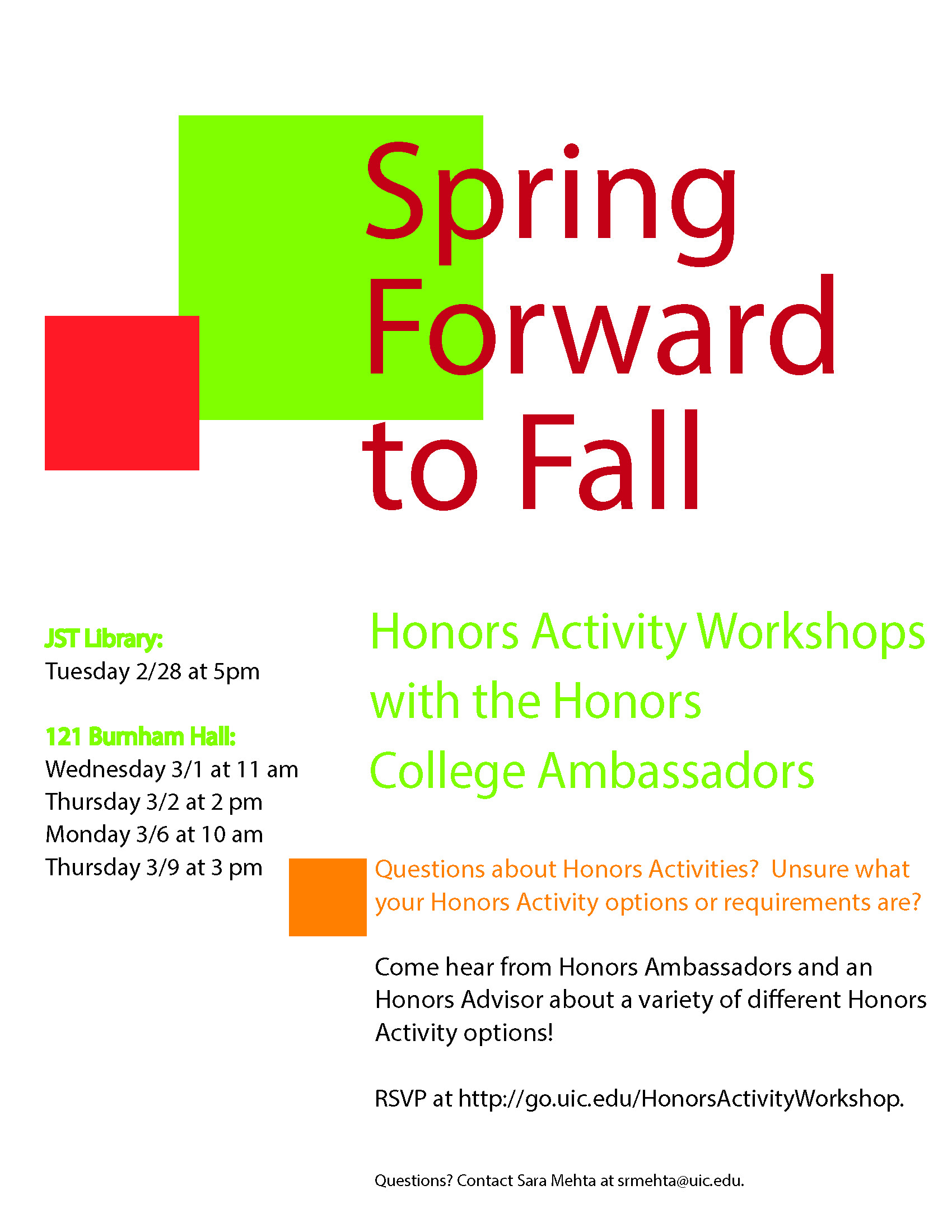 honors college uic Honors college announcements blog navigation honors college announcements blog home create post archive   9th annual uic day of service – register by march 29.