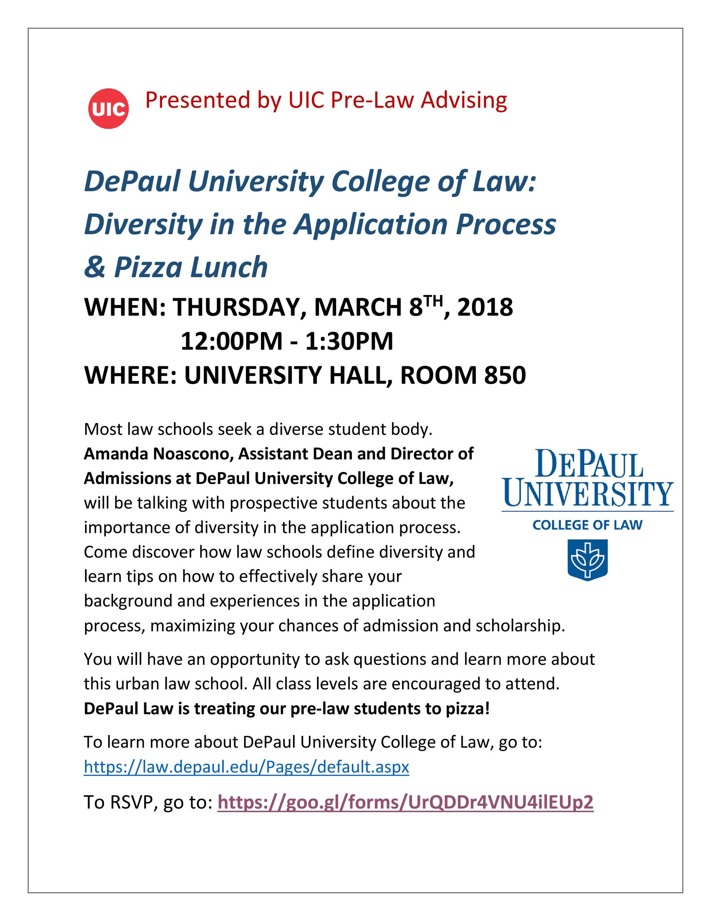 DePaul University College of Law: Diversity in the