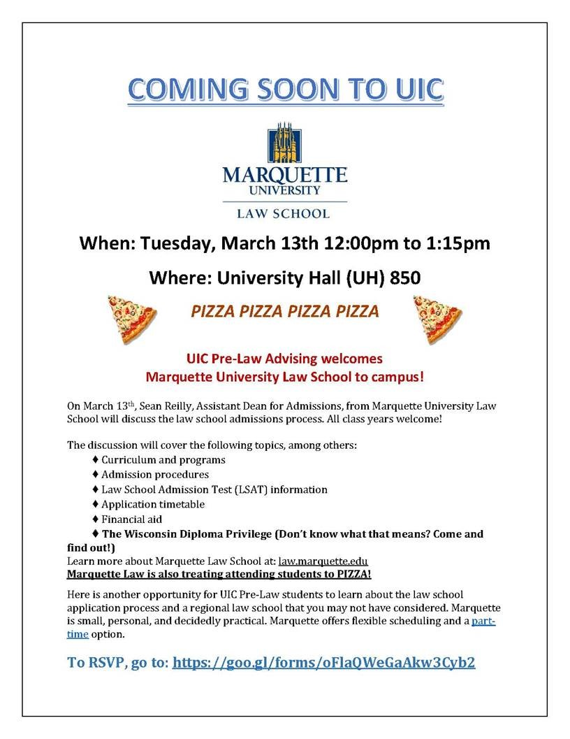 Marquette University Law School Information Session and