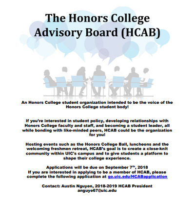 Honors College Announcements | UIC