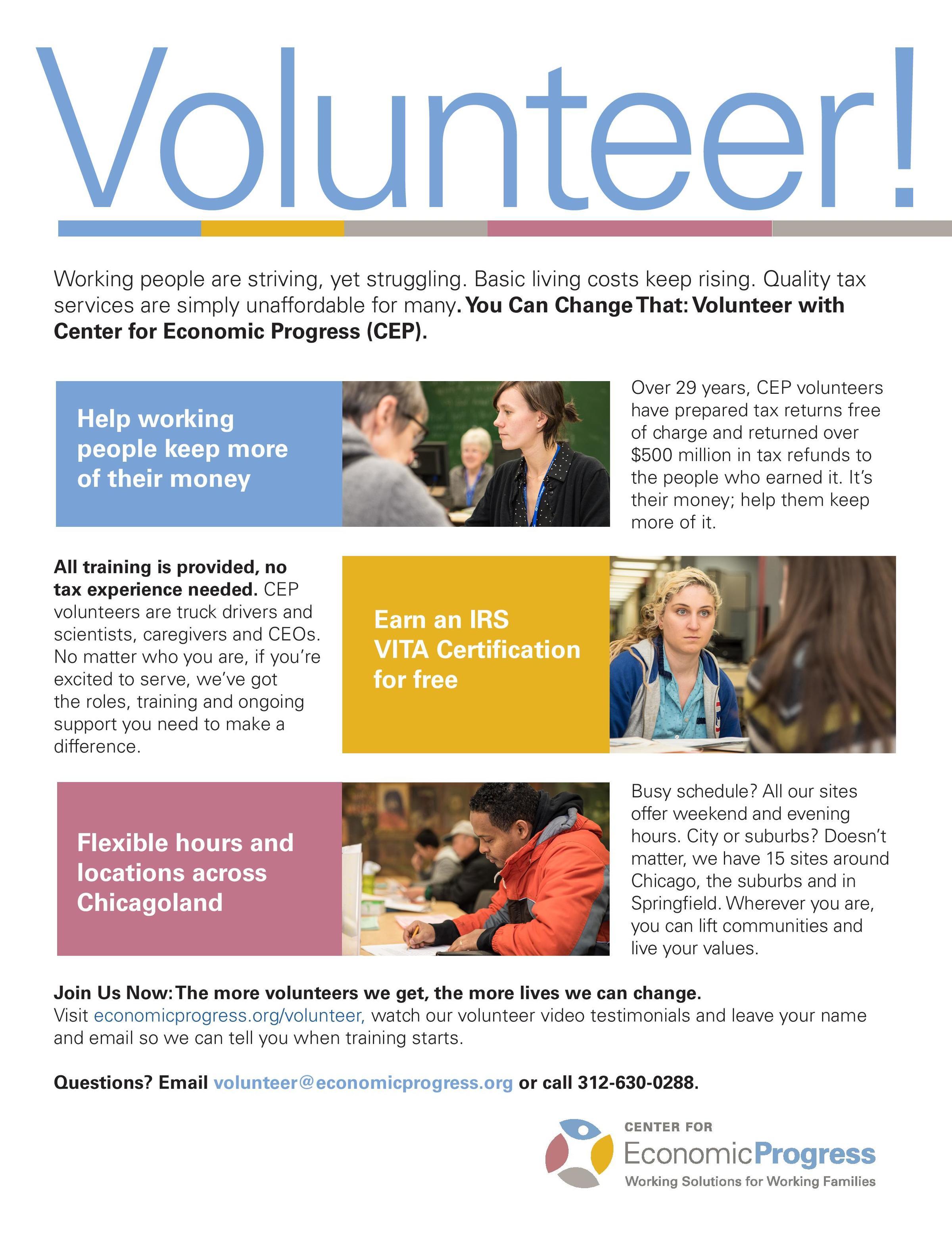 Volunteer With The Center For Economic Progress Cep Uic